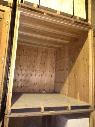 Opslag/Bewaarneming inboedel in een kist van 12 m3